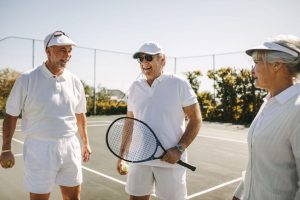Senior Citizens exercising tennis | LCR Health