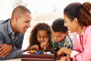 family playing game | LCR Health