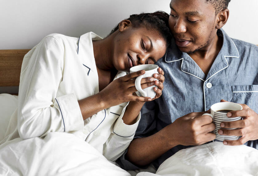 happy couple breakfast in bed | LCR Health