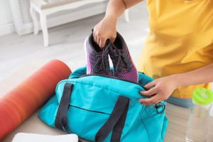packing gym bag   LCR Health