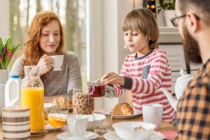 family eating breakfast   LCR Health
